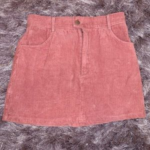 NEW W/ TAGS Kendall & Kylie pink corduroy skirt